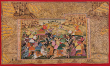 Load image into Gallery viewer, Famous HaldiGhati War Battle Indian Miniature Painting Art - ArtUdaipur