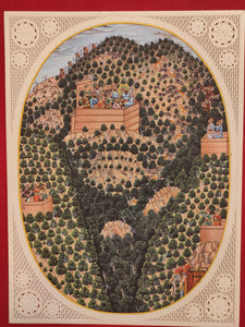 Famous Painting For Sale Hunting Indian Miniature Art with Meaning - ArtUdaipur