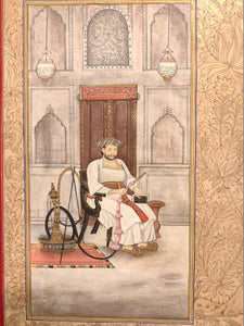 Hand Painted Mughal Maharajah King Romance Miniature Painting India Art Paper - ArtUdaipur