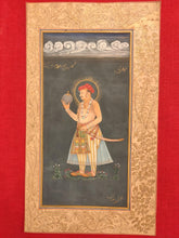 Load image into Gallery viewer, Hand Painted Mughal Maharajah King Portrait Miniature Painting India Paper - ArtUdaipur