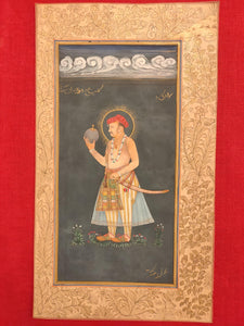 Hand Painted Mughal Maharajah King Portrait Miniature Painting India Paper - ArtUdaipur