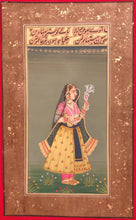 Load image into Gallery viewer, Hand Painted Mughal Maharani Queen Portrait Miniature Painting India Paper - ArtUdaipur