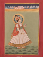 Load image into Gallery viewer, Hand Painted Rajasthani Maharajah King Portrait Miniature Painting India Mewar - ArtUdaipur