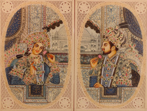 Shah Jahan and Mumtaz Love Story Artwork