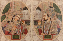 Load image into Gallery viewer, Mughal Moghul Shah Jahan Mumtaz Painting Artwork Taj Mahal