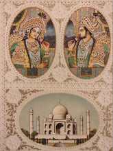 Load image into Gallery viewer, Hand Painted Mughal Shah Jahan and Mumtaz Miniature Painting India Artwork - ArtUdaipur