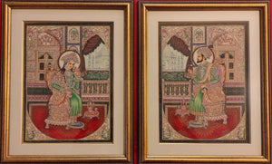 Shah Jahan and Mumtaz Framed Art Collection Home Decor