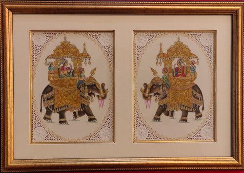 Mughal Ambabari Miniature Painting Artwork Framed