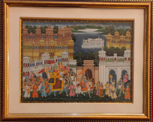 Udaipur City Framed Painting Home Decor Artwork