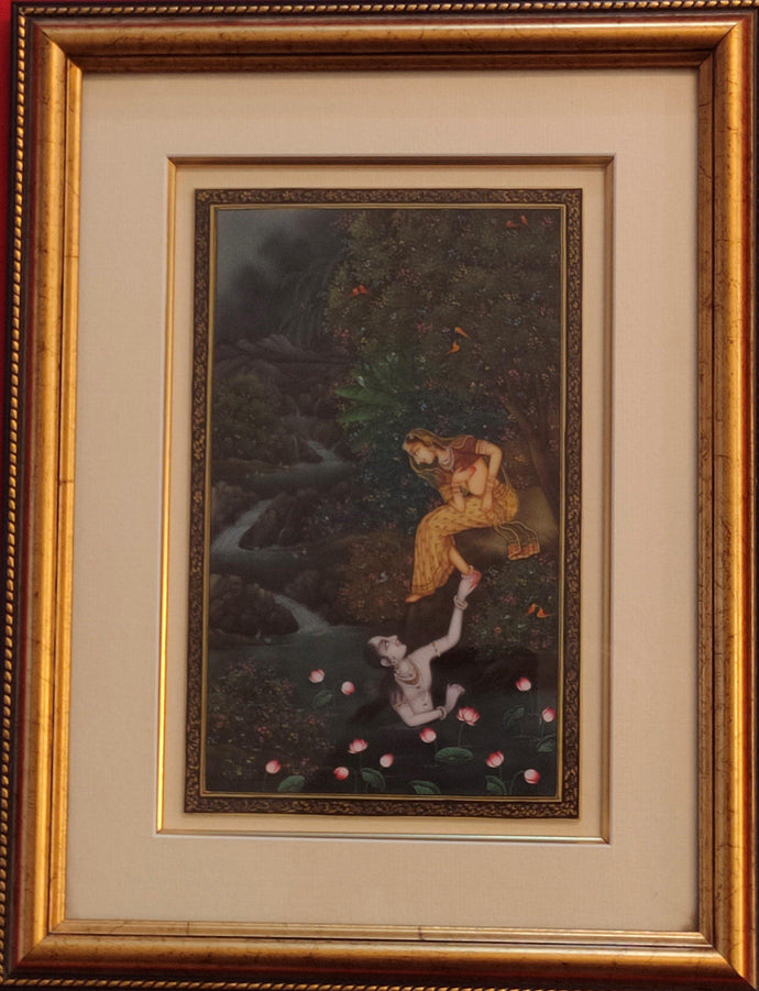Krishna Radha Framed Painting Artwork