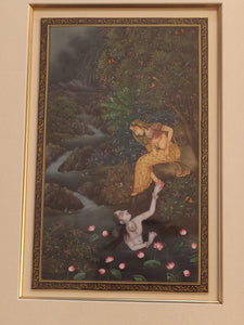 Lord Krishna Radha HandPainted Indian Miniature Painting - ArtUdaipur