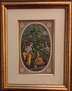 Krishna Radha Hindu God Framed Painting Artwork Collection