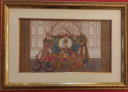 Framed Painting Artwork Mughal Maharajah