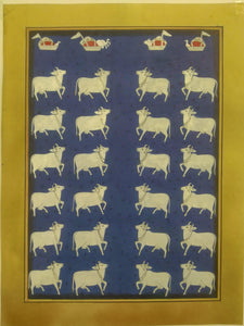 Krishna Pichwai Cow Indian Miniature Painting Famous Rajasthan Tradition - ArtUdaipur