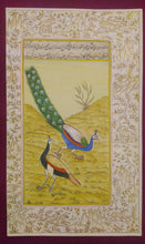 Load image into Gallery viewer, Beautiful Gold Peacock Indian Miniature Painting - ArtUdaipur