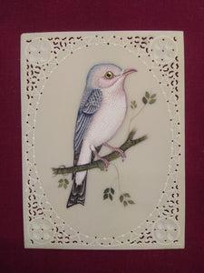 Exquisite Sparrow Artwork on Synthetic Ivory Art Collection - ArtUdaipur
