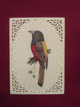 Load image into Gallery viewer, Sparrow Bird on Faux Synthetic Ivory Exotic Miniature Painting - ArtUdaipur