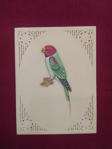 Beautiful Parrot Bird Bird Miniature Painting India - ArtUdaipur