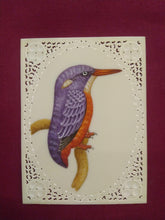 Load image into Gallery viewer, Beautiful KingFisher Bird Miniature Painting India Famous Artist - ArtUdaipur