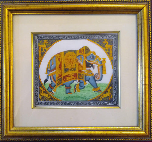 Elephant Framed Painting Artwork