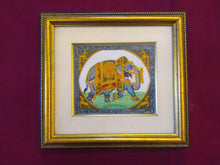 Load image into Gallery viewer, Hand Painted Elephant GoodLuck Miniature Painting India Artwork Animal Fine Art Interior - ArtUdaipur