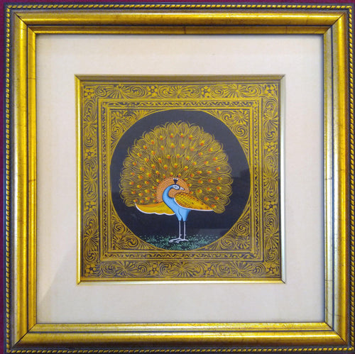 Peacock Bird Framed Painting Interior Collection