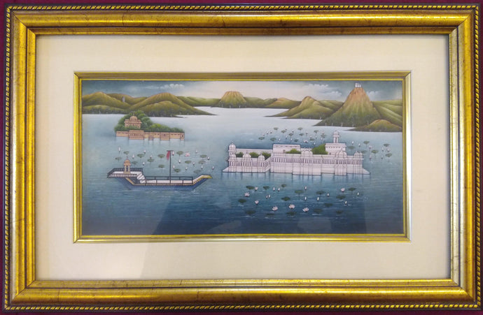 Udaipur City Framed Painting JagMandir Home Decor