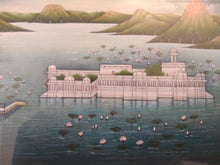 Load image into Gallery viewer, Hand Painted Lake Palace Detail History Miniature Painting India Framed Artwork - ArtUdaipur
