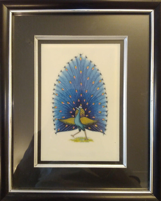 Peacock Bird Framed Art Interior Collection
