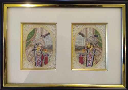 Shah Jahan and Mumtaz Painting Framed Artwork
