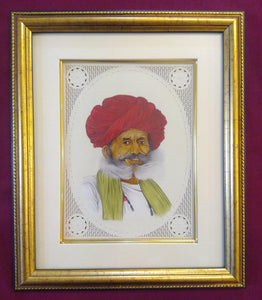 Hand Painted Old Village Men Portrait Detailed Miniature Painting Art Work Brush - ArtUdaipur