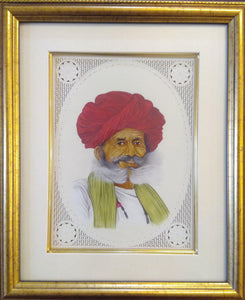 Old Men Rajasthani Portrait Miniature Painting