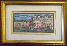Load image into Gallery viewer, Framed Udaipur City Procession Painting