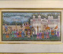 Load image into Gallery viewer, Hand Painted Synthetic Ivory Procession Rare Miniature Painting India Artwork Framed - ArtUdaipur