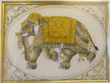 Load image into Gallery viewer, Hand Painted Elephant Decor Rare Detailed Miniature Painting India Artwork Animal Fine Art - ArtUdaipur