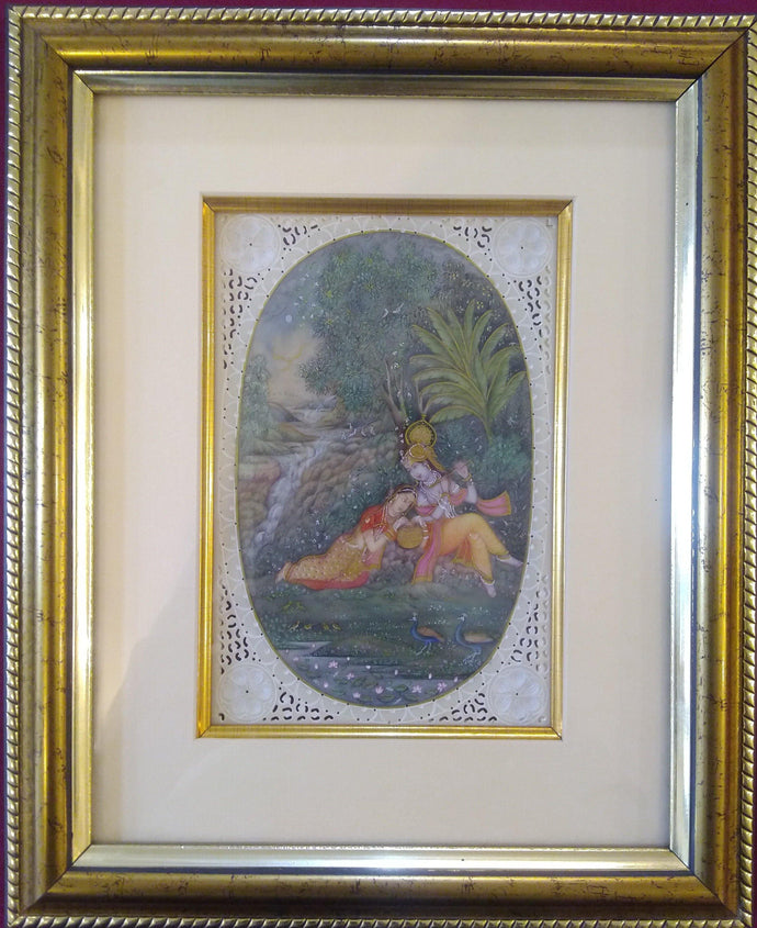 Krishna Radha Framed Painting Artwork Home Decor