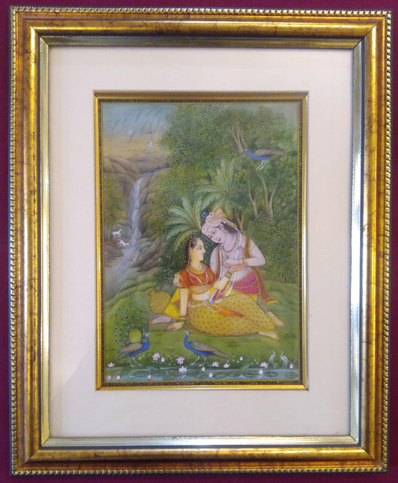 Art for Home Framed Painting Indian Miniature Original Krishna Radha - ArtUdaipur