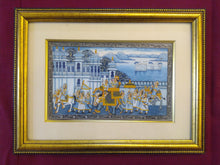 Load image into Gallery viewer, Hand Painted Miniature Painting India Procession Artwork Maharajah King Framed Fine Art - ArtUdaipur
