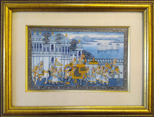 Load image into Gallery viewer, Udaipur City Procession Painting Framed
