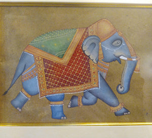 HandPainted Elephant Decor Rare Detailed Miniature Painting India Artwork Animal Home Decor - ArtUdaipur