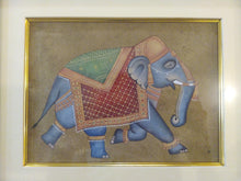 Load image into Gallery viewer, HandPainted Elephant Decor Rare Detailed Miniature Painting India Artwork Animal Home Decor - ArtUdaipur