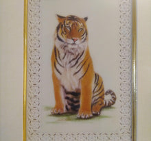 Load image into Gallery viewer, Hand Painted Tiger Decor Rare Detailed Miniature Painting India Art Animals - ArtUdaipur