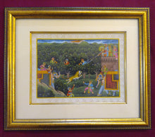 Load image into Gallery viewer, Framed Animal Hunting Battle Scene Painting with Deep Meaning India - ArtUdaipur