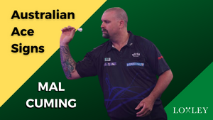 Australian Ace Mal Cuming signs with Loxley Darts