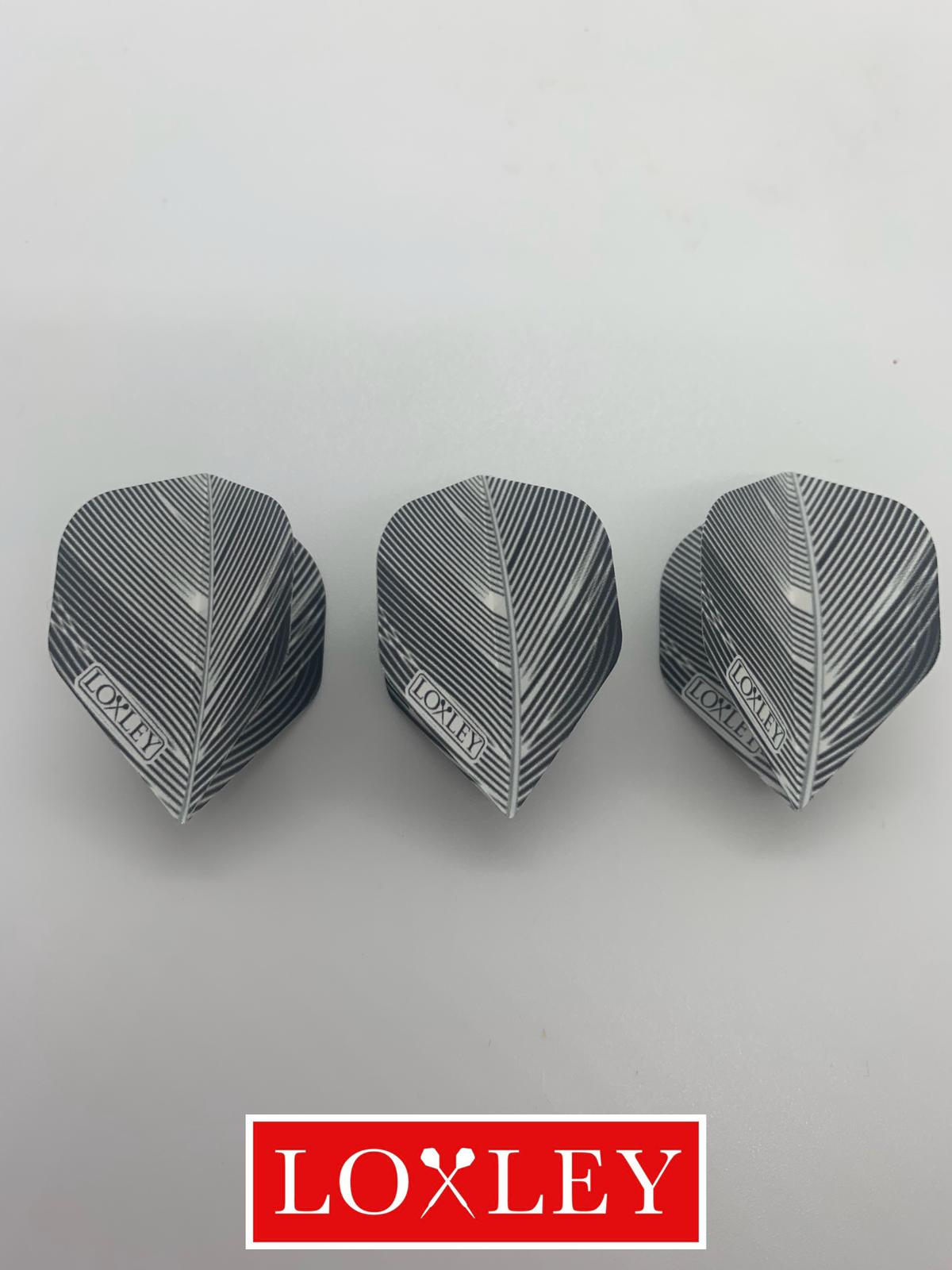 Grey feather flights 100m (5 sets : Standard shape)