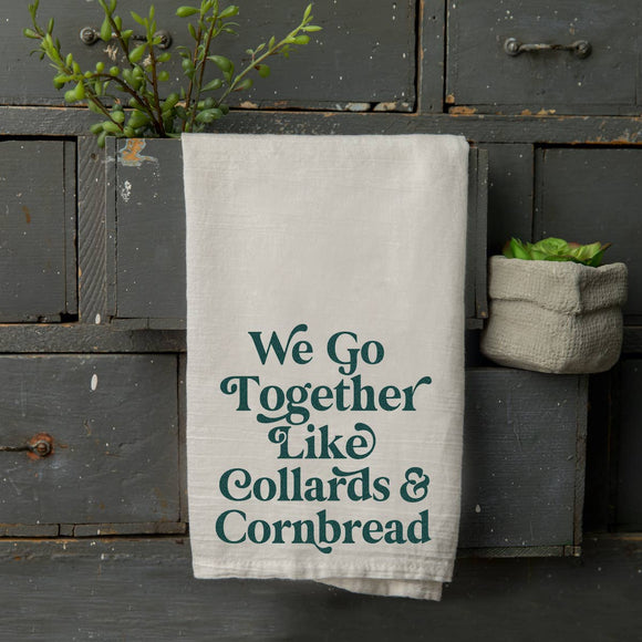 Good Southerner - Collards & Cornbread Tea Towel