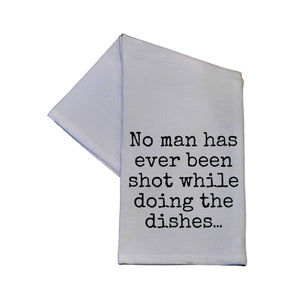 Driftless Studios - No Man Has Ever Been Shot While Doing The 16x24 Hand Towel