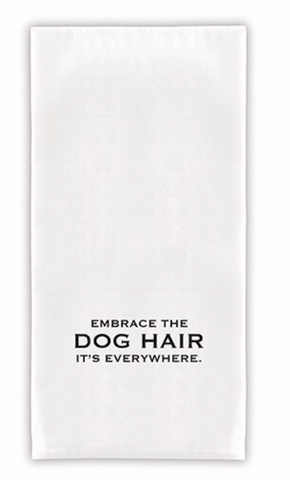 Embrace Dog Hair Tea Towel