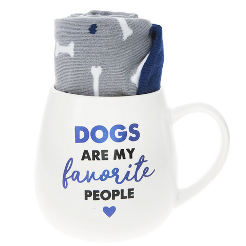 Dogs Mug & Sock Set