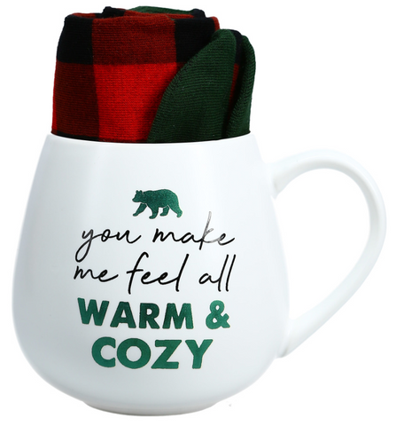Warm & Cozy Mug & Socks Set